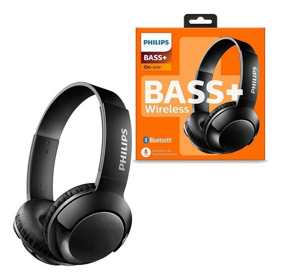 Fone De Ouvido Philips Bluetooth C/ Microfone Bass+ Preto