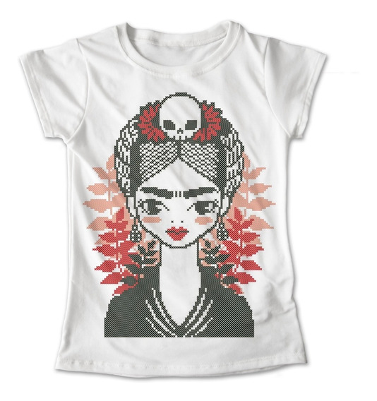 Blusa Frida Kahlo Mexico Colores Playera Estampado #325