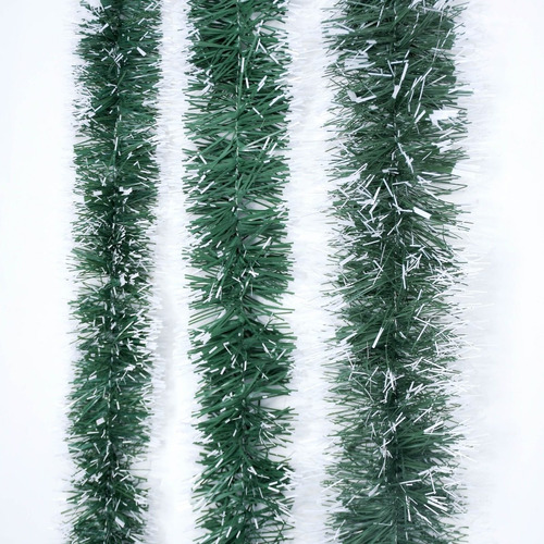 Guirnalda Navidad Verde Punta Blanca 8 Cm X 2 M #196