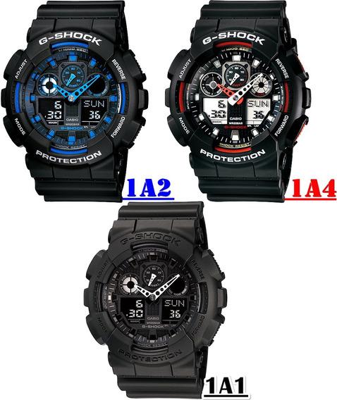 Relógio Casio G-shock Ga-100 1a1 1a2 1a4 Original Com Caixa