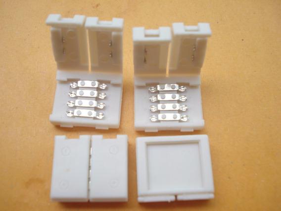 10conector Emenda Rápido Para Fita De Led Rgb 10mm Sem Solda