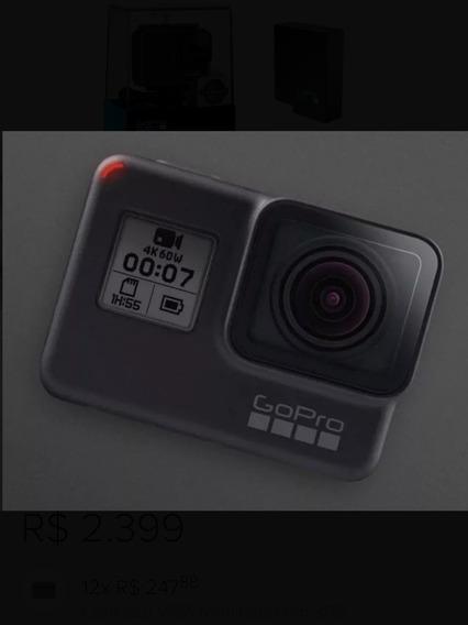 Câmera Gopro Hero 7 Black + Bateria + Caixa De Estanque.