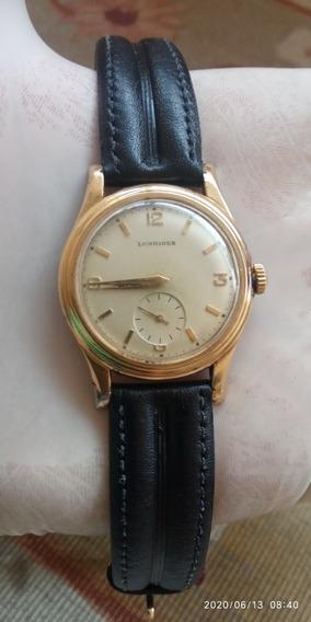Relógio De Pulso Longines A Cord Antigo Caixa Banhada A Ouro