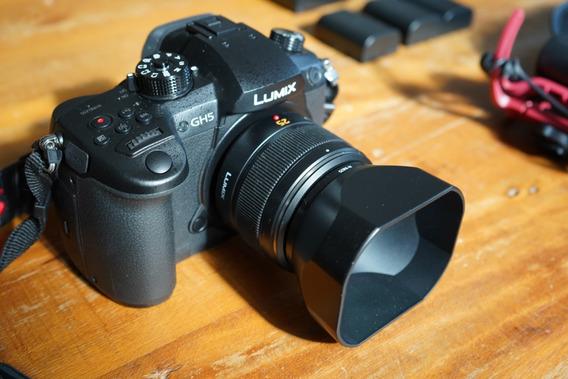 Panasonic Gh5 + 25mm Leica + 4bat + Mic + Vlog + Hoya