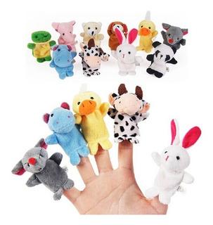 Marionetas Titeres X10 Dedos Niños Bebes Estimulacion Visual