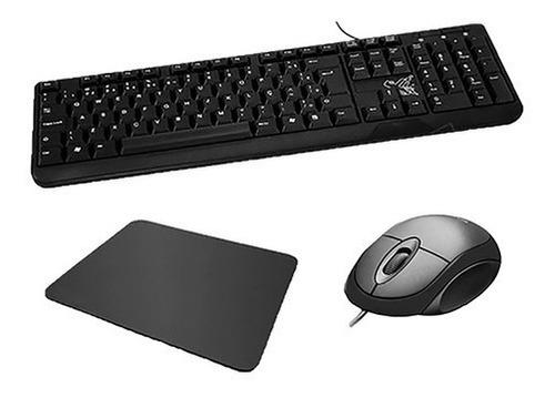Kit Escritório Mouse Teclado Mousepad C3tech Simples Barato