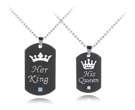 Duo Collar His Queen-her King