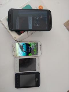 Quatro Celulares , Moto G2, Samsung E Lg