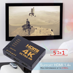 Mini 5 Em 1 Out Hdmi Switcher K Extremista Hd Amplificador S