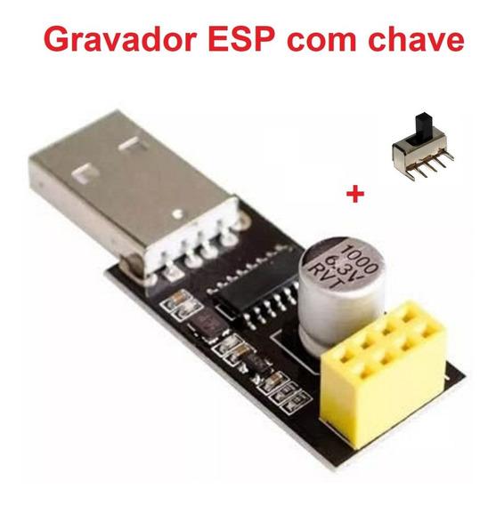 Gravador Programador Para Módulo Wifi Esp8266 01 Com Chave