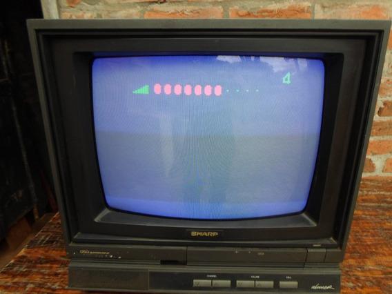 Antiga Tv Tubo 14 Polegada Sharp Colorida Bivolt Funcionando