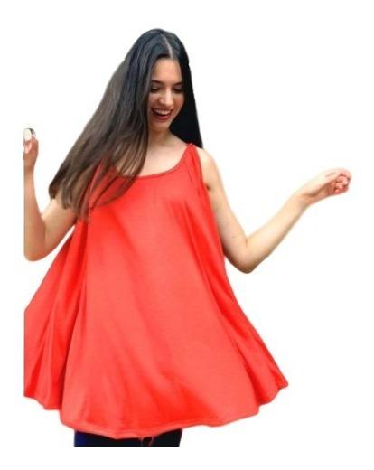 Vestido Musculosa Evase Remera Especial Juvenil Talle Grand