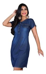 Roupas Femininas Moda Evangélica Vestido Médio Camisão 039