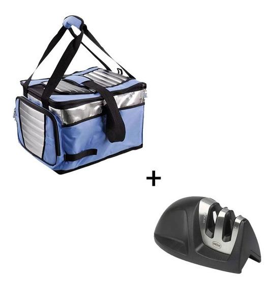 Bolsa Térmica Ice Cooler 36l C/ Divisória Até 40un + Afiador
