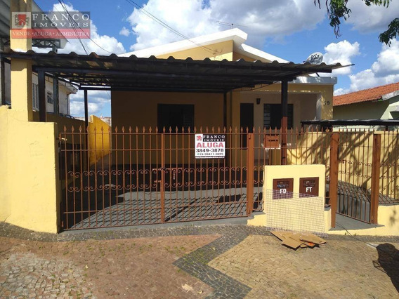 Casa Residencial Para Locação, Jardim São Jorge, Valinhos. - Ca0233