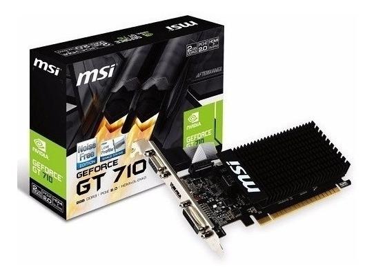 Tarjeta De Video Msi Geforce Gt710 2gb Ddr3 Pcie Hdmi Dl Dvi