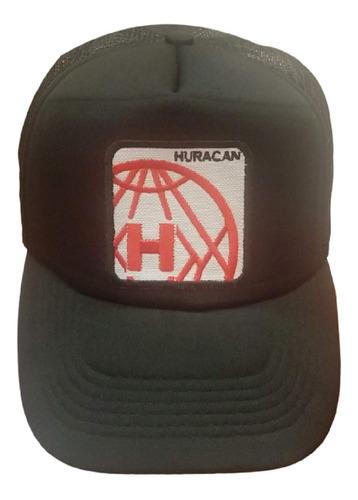 Imagen 1 de 4 de Gorra Trucker Escudo Bordado Huracán Negro