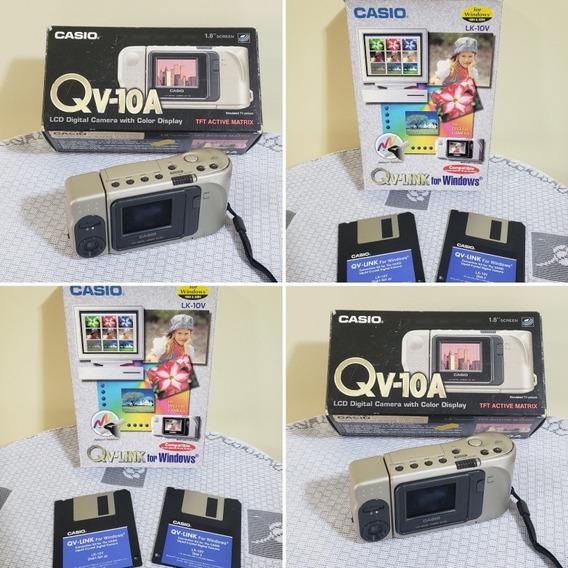 Câmera Digital Casio Qv-10a + Qv-link Diskete - Leia Anúncio