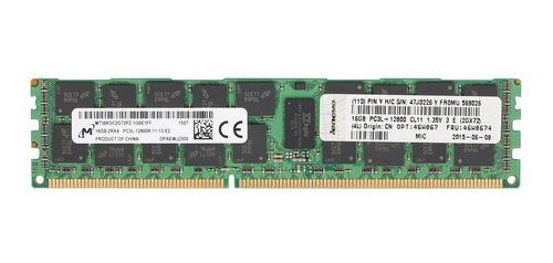 Imagem 1 de 5 de Memoria Genuina Lenovo 16gb Ddr3 1600mhz Ecc 46w0674