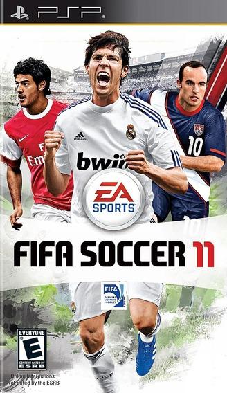 Jogo Fifa 11 Playstation Psp Mídia Física Futebol Mídia Físi