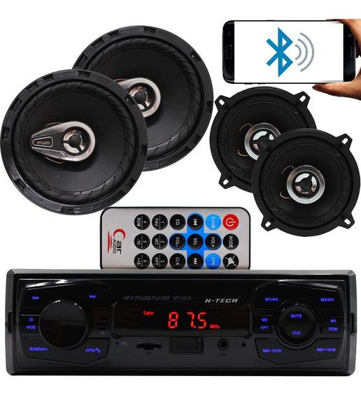 Kit Alto Falante P Gol G3 G4 G5 G6+rádio Bluetooth Mp3 Usb