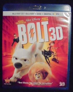 Bolt (4 Disc Combo, Blu Ray 2d Y 3d, Dvd, Digital Copy)