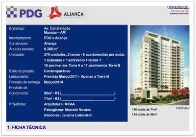 Apartamento Com 3 Dormitórios À Venda, 98 M² Por R$ 440.000 - Adrianópolis - Manaus/am - Ap0503
