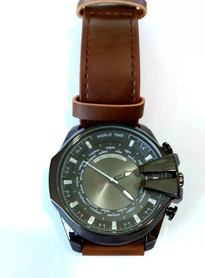 Relógio De Quartzo Masculino:militar Importado.puls.de Couro