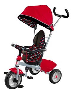 Triciclo 3 Etapas Flying Wheels Toldo Y Mango Direccionable