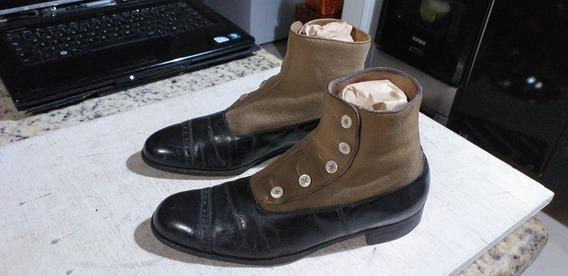 Par De Sapato Antigo Aproximadamente Nº 35