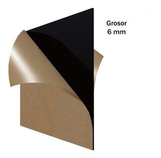 Acrílico Negro Lámina 60 X 120 Cm Grosor 6 Mm