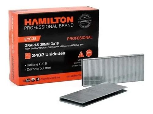 Grampas 38mm Ga18 5,7 P/ Clavadora Neumatica Hamilton 2482u