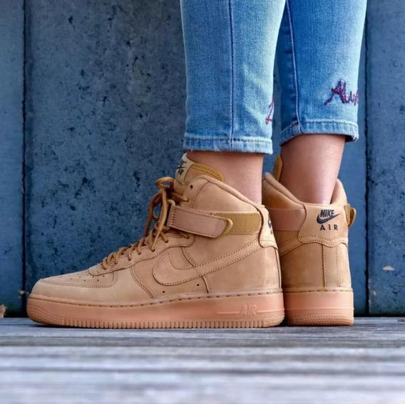 Nike Air Force 1 Botitas Marron Zapatillas de Mujer en