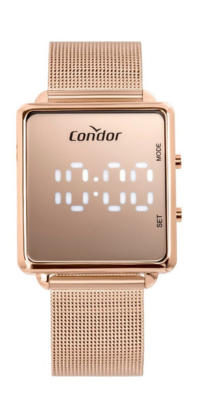 Relogio Digital Led Condor Feminino Quadrado Cobj3382ab/4j