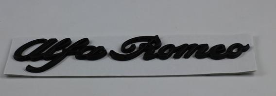 Emblema Traseira Nome Alfa Romeo Cromado Top!! 155 156 166