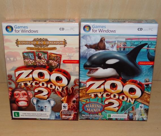 Zoo Tycoon 2 - Coleção Do Tratador + Zt2 - Marine Mania - Pc