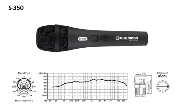 Microfone Profissional (clássico Alemão) S-350 Waldman