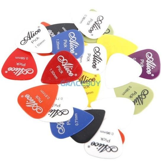 Combo 10 Palhetas De Guitarra Suave Alice Palhetas Sortidas