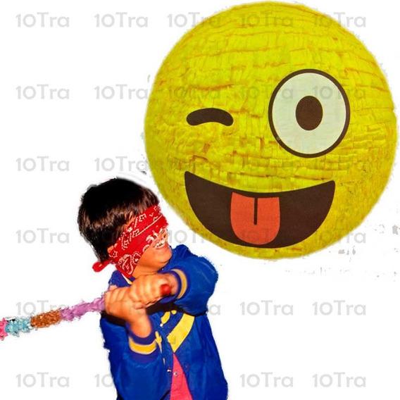 Piñata Emoji Estilo Mexicano Deco Fiesta Cumpleaños Emotico