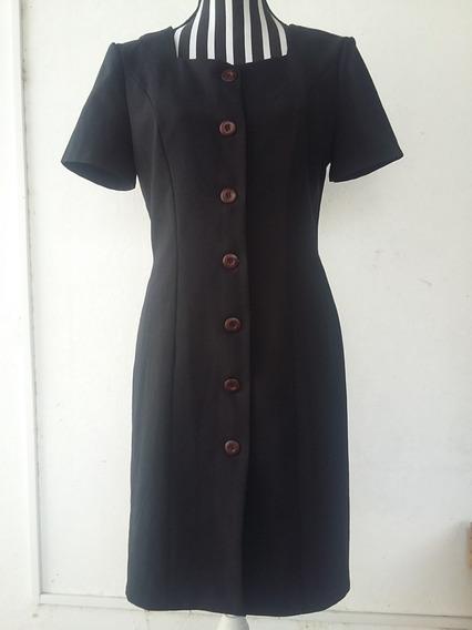 Vestido Chemise, Color Negro, Talle: M