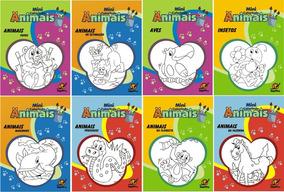 6 Pacotes Com 10 Livros De Colorir Vários Temas