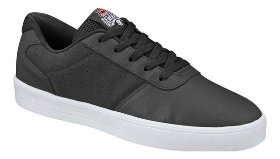 Tênis Black White Landeck Preto C/branco Red Bull