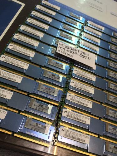 Imagem 1 de 10 de Memoria 32gb 8x4gb Pc2-5300f Fb-dimm Hp Proliant Ml350 G5
