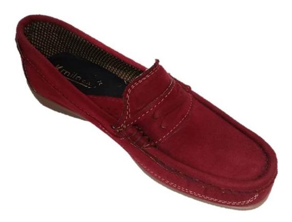 Zapatos Mocasín Para Damas Color Vinotinto