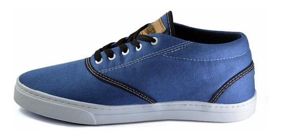 Tênis Sneakers Azul Jeans Unisex Drums Steel Skate Rock