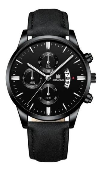 Relógio Masculino Preto De Pulso Quartzo