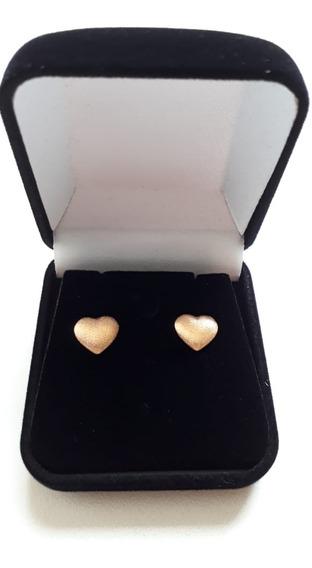 Brinco Coração Ouro Rose 18k Em 12x Sem Juros - Frete Grátis
