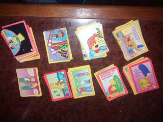 Figuritas Los Simpson ( X100) Cartas Cromy Album 1993 Tcffc