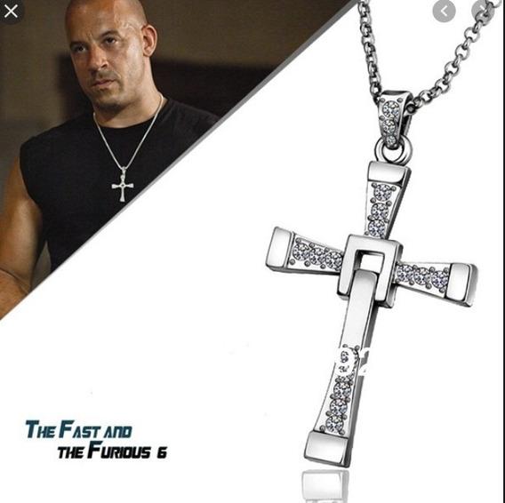 Cordão Dominic Toretto Velozes Furiosos Prateado Frt Gratis