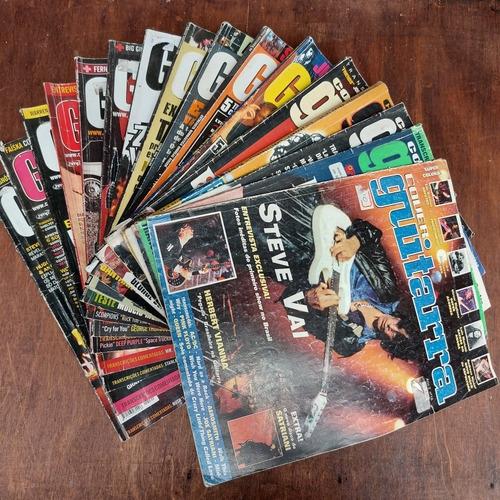 Lote 16 Revistas Antigas Cover Guitarra